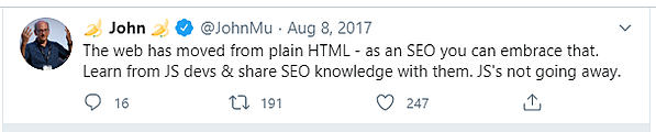 tweet about js seo
