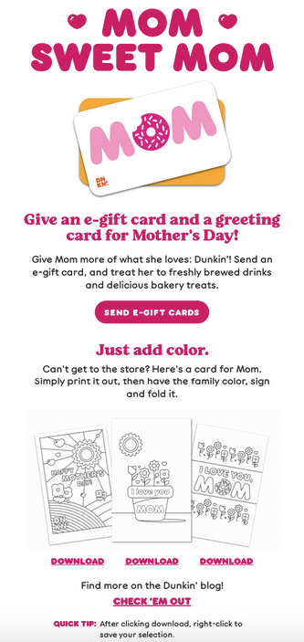 dunkin donuts email