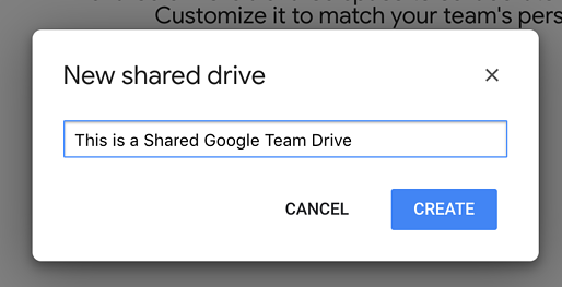 Name Google Team Drive