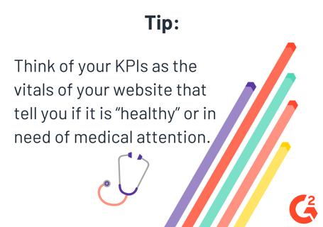 Website KPIs measure the health of your website