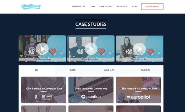case studies klientboost
