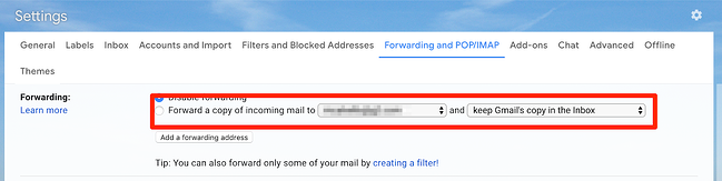 Forwarding Gmail rules