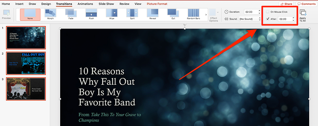 Adjust Timing in PowerPoint