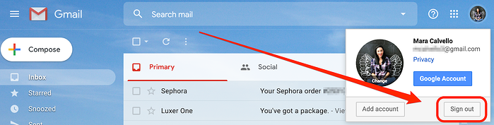 Sign Out of Gmail on Desktop