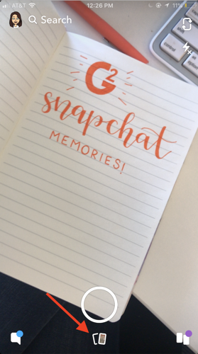 How to ac cess Snapchat Memories