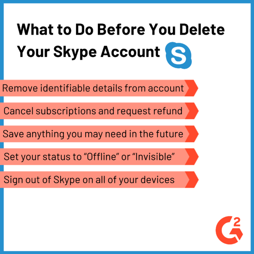 Before you delete your Skype account