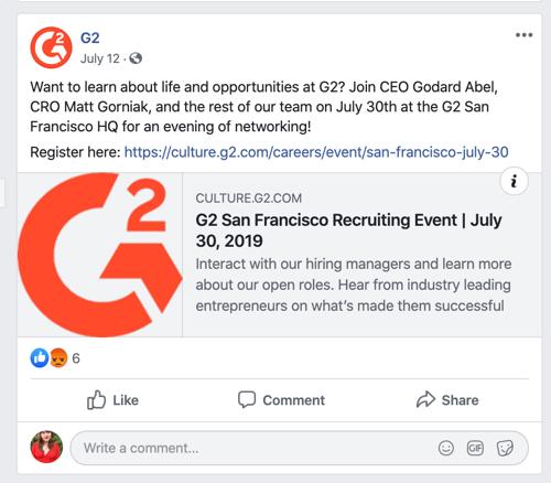 promotional facebook job post