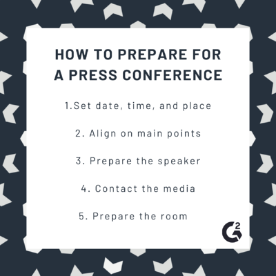 How to prepare for a press conference