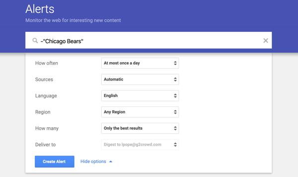tips for google alerts