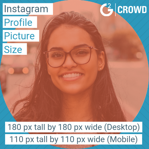 Instagram Profile Picture Size on mobile and desktop