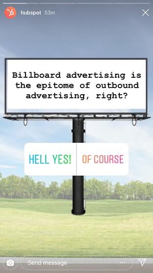 Instagram story using audience interaction