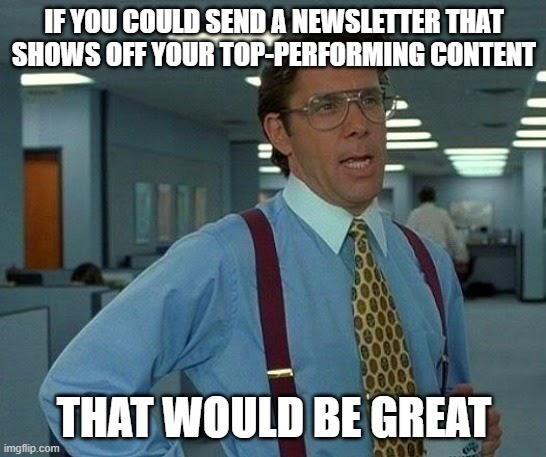 newsletter meme
