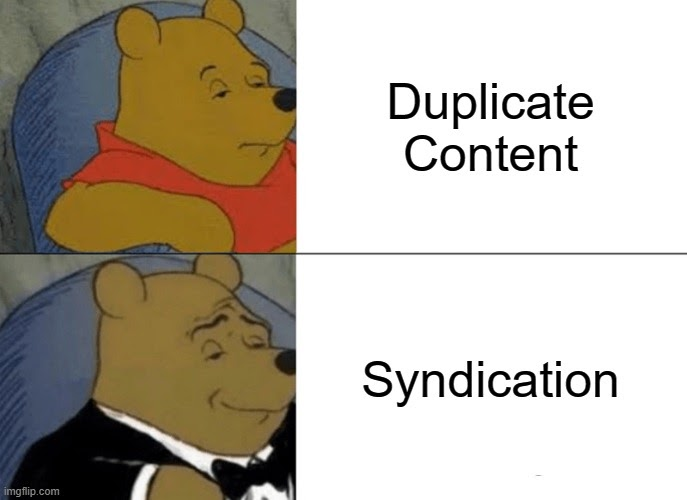 duplicate vs syndicated content