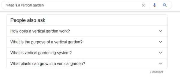vertical garden search