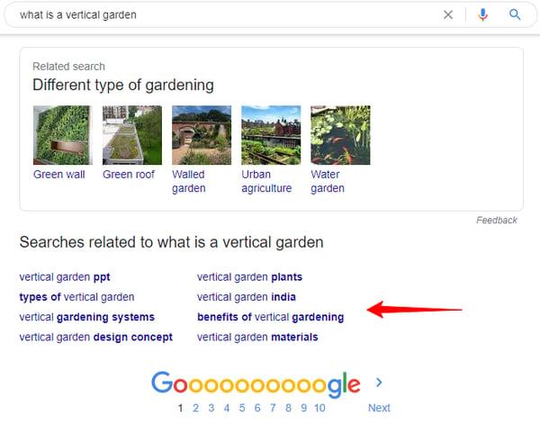 gardening search