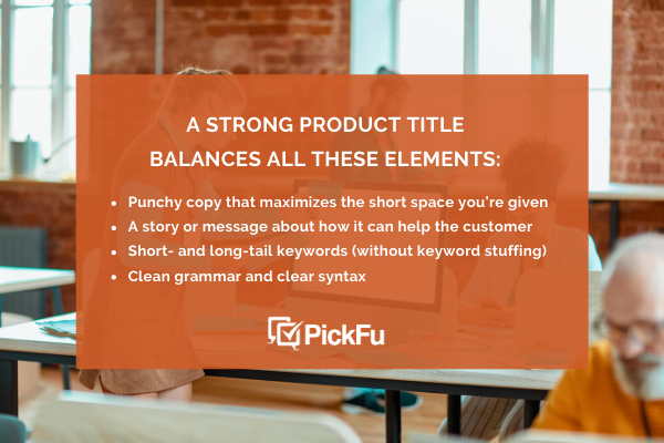 how to write a strong product title