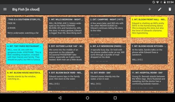Kit Scenarist, a type of free screenwriting software