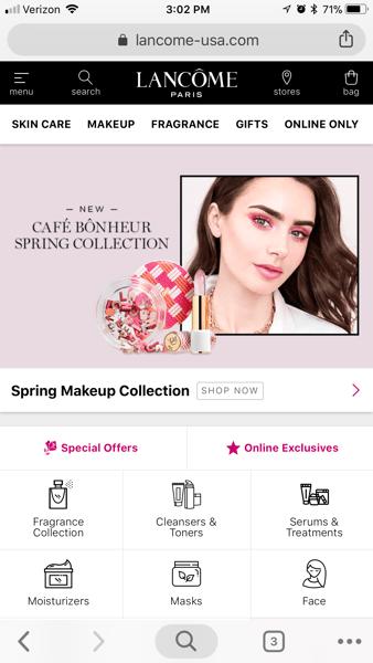 Lacome web app screenshot