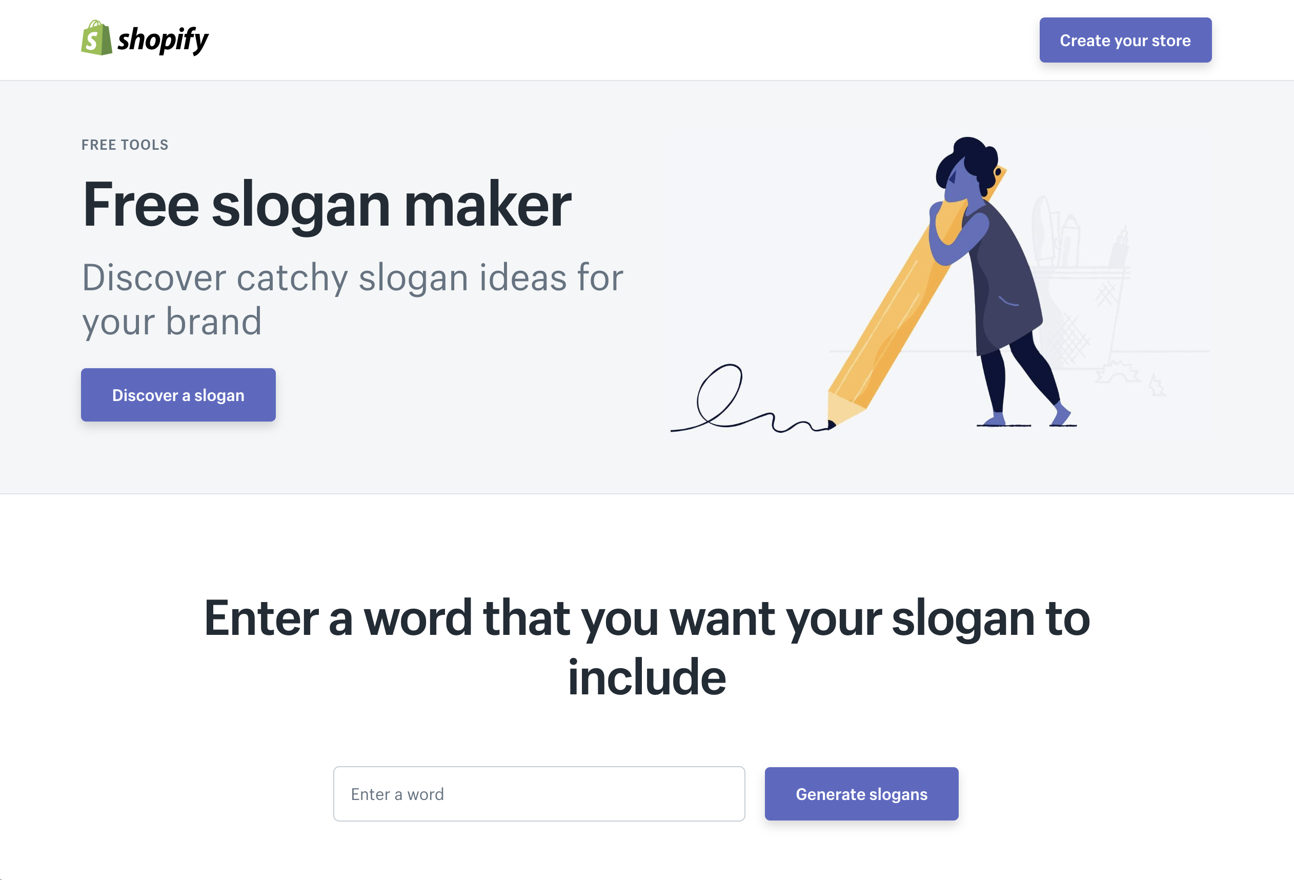 Free Tools - Shopify's Free Slogan Maker