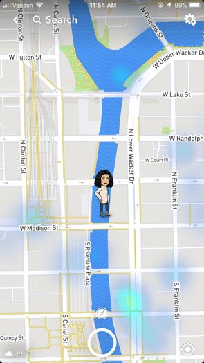 Snapchat Map Main Screen