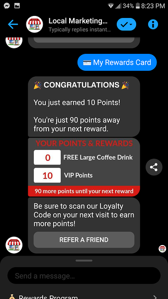 coffee rewards points