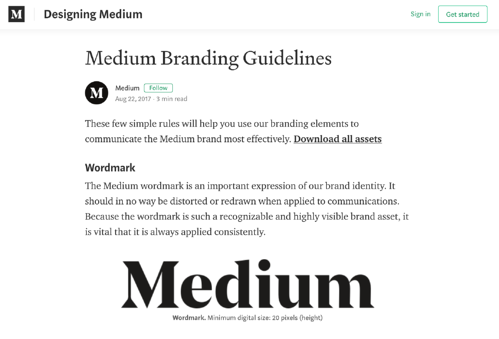 Medium Style Guide Example