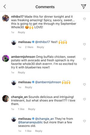 Melissa Instagram Example