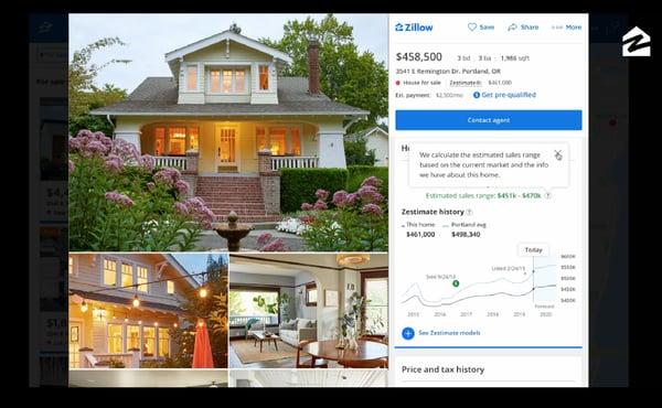 zillow app homepage