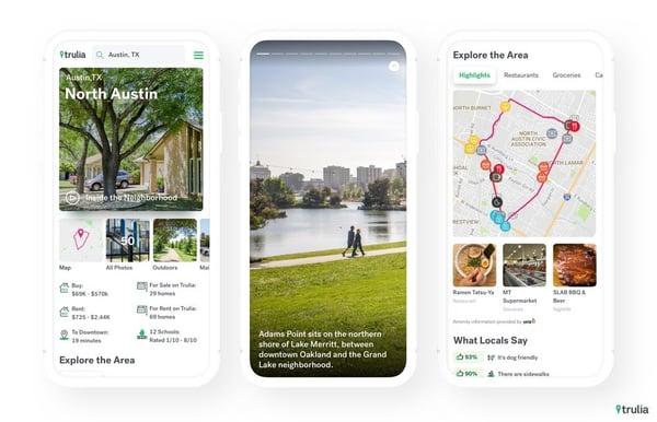 trulia app interface