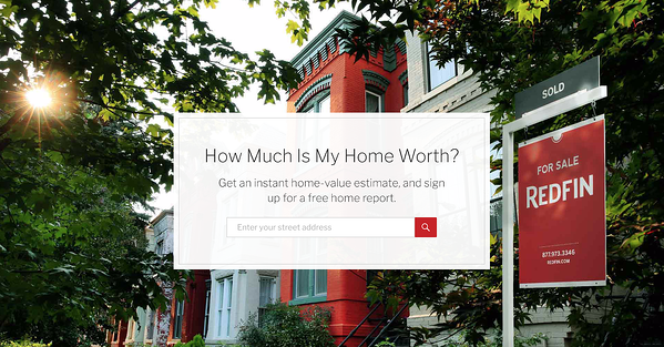 redfin landing page