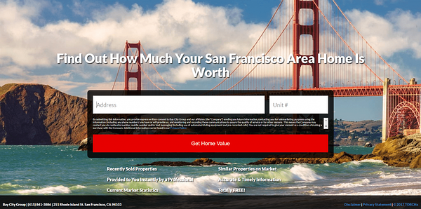 bay city group landing page