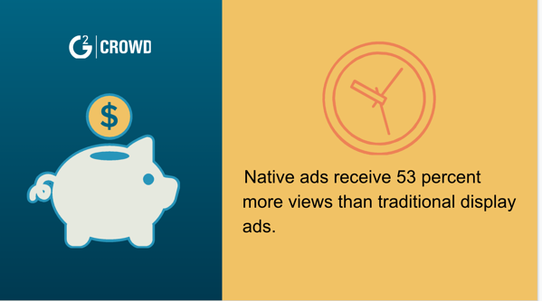 Native ads perform better than traditional ads