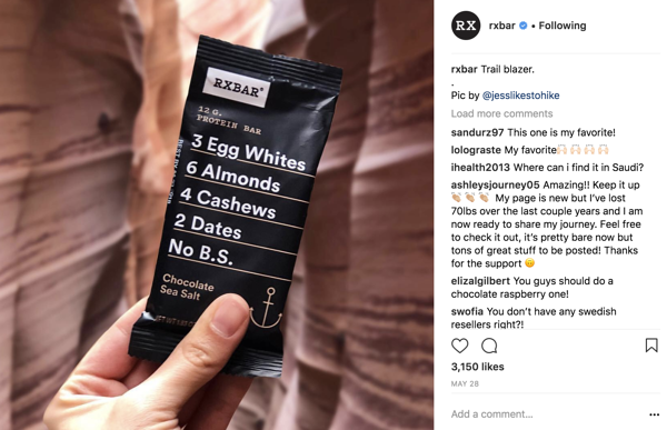 RXBar Customer Repost