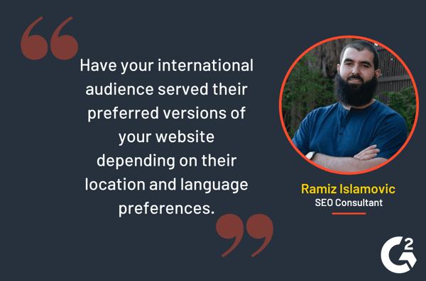 Ramiz Islamovic quote