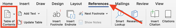 References in Word