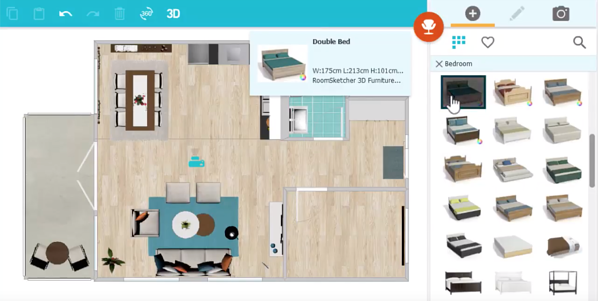 Software de planos de planta de RoomSketcher Home Designer