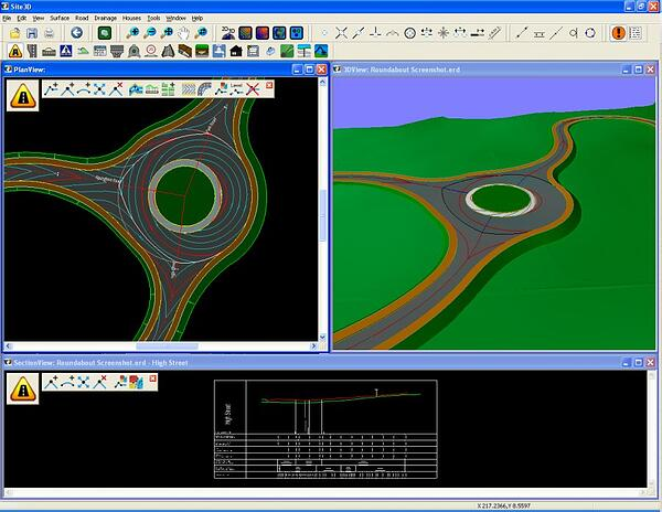 SIte3D Transportation engineering software photos show an important aspect of civil engineering.