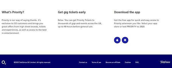 priority customers for tickets
