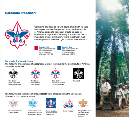 Scouts Style Guide Example