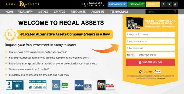 Regal Assets affiliate marketing