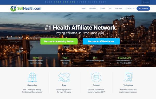 SellHealth affiliate marketing