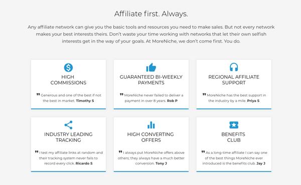 MoreNiche affiliate marketing