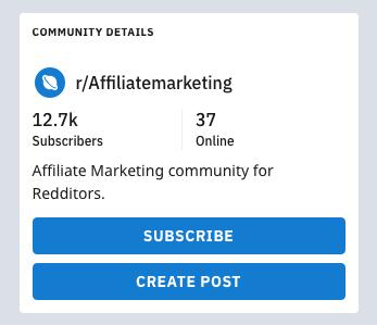Reddit affiliate marketing