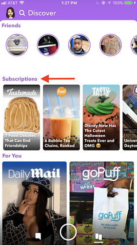 snapchat discover subscription content