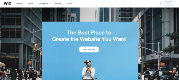 wix website builder example
