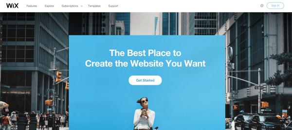 wix website builder example
