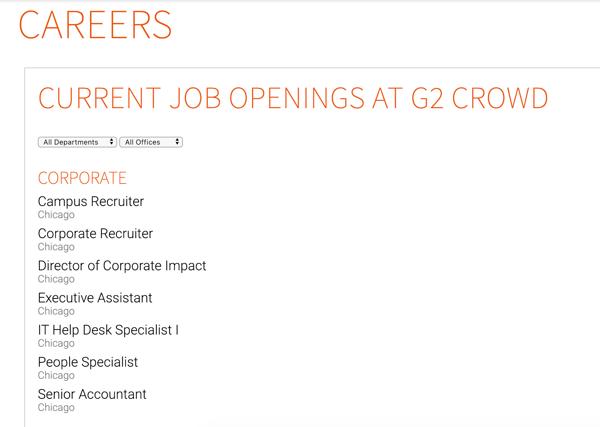 careers page sample