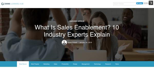 content marketing sample