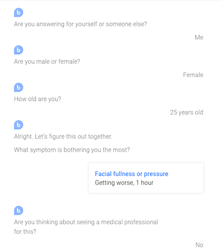 chat with Buoy medical chatbot
