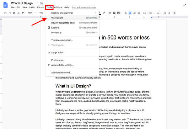 A Guide to Seeing Word Count on Google Docs (+Shortcuts)